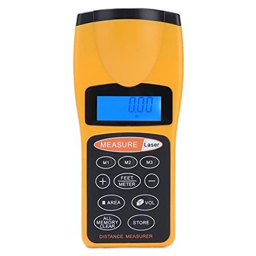 Medidor de medición de distancia Medidor ultrasónico de mano Buscador de rango láser Instrumento de medición de distancia 15.5x7x4.8cm/6.1x2.8x1.9in