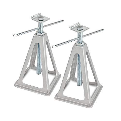 Caballete de aluminio con perfil en L, capacidad de carga de 1000 kg, 42 cm de altura, acople en L