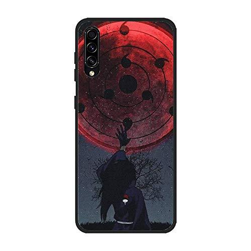 HDDZKA Black Matte Slim Silicone TPU Flexible Shock-Absorbing Printing Coque Case for Samsung Galaxy A30S/A50S-Madara-Uchiha Itachi Crow Sharingan 6