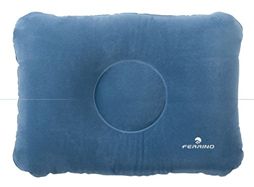 Ferrino Unisexe Coussin Gonflable, Mixte, 026627, Bleu, 48 x 35 cm