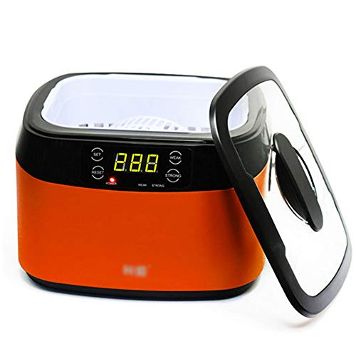 OUYA Limpiador de Joyas 1.2L Limpiador ultrasónico, Limpiador de Gafas para el hogar, Limpiador de Joyas, Limpiador de Relojes 40KHz