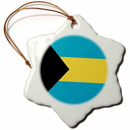 3dRose LLC Bahamas Flagge, 7,6 cm, Schneeflocke
