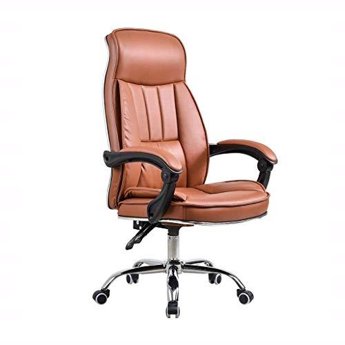 LEOO Fauteuil de bureau exécutif en cuir reconstitué, fauteuil de bureau pour ordinateur avec inclinaison réglable et verrouillage verrouillable, rembourrage épais et design ergonomique pour support l