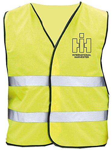 Schlüter Oldtimer Warnweste   IHC Int. Harvester   Gelb   Brust- und Rückendruck   Größe L/XL
