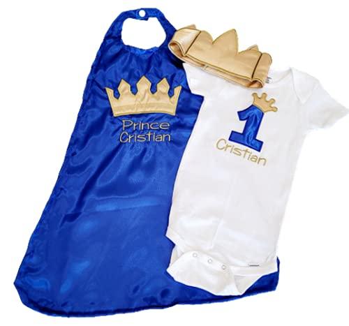 1st 2nd Birthday Max 74% OFF set Smash cake gold BLUE ROYAL crown prop Superlatite photo