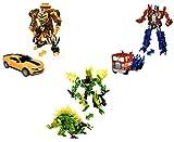 Brigamo Juego de 3 figuras de acción Transform Robot Truck, Mustang & Dinosaurio, 19 cm