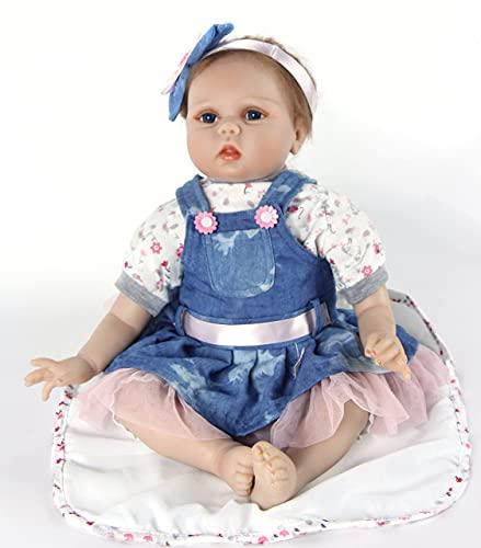 ZIYIUI 22 Pulgadas 55 cm Muñeca Reborn Hecha a Mano Realista de Silicona Muñecas Reborn Baby Girl o Boy Bebe Dolls Juguetes para niños pequeños