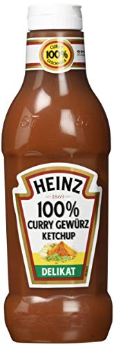 Heinz Curry Gewürz Ketchup Delikat, Squeezeflasche, 8er Pack (8 x 590 ml)