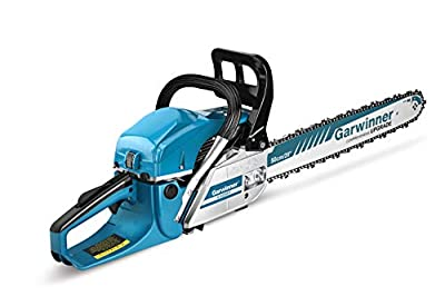 62cc Gas Chainsaws 20 Inch Bar Power Chain Saws, Gas Powered Chainsaw 2 Stroke Handed Petrol Gasoline Chain Saw for Cutting Wood Outdoor Garden Farm Home Use with Tool Kit 5820G