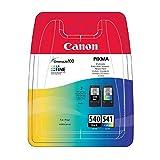 Cartucce di inchiostro Canon PG540CL541, per stampanti Canon Pixma MG3650, originali, nero e colore
