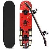 FONTE Skateboard, Komplettboard 31 x 8 Zoll für Kinder...