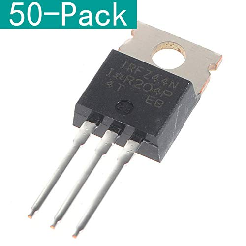 Youmile 50er-Pack IRFZ44N Transistor IRFZ44 N-Kanal-International-Gleichrichter Power Mosfet 49A 55V