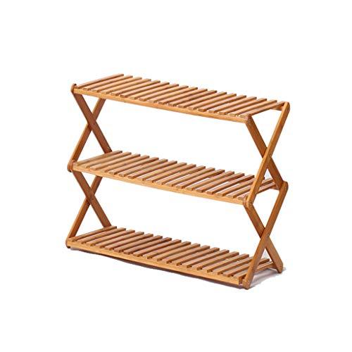 Zapatera Estante de zapato de 3 niveles de múltiples capas de madera maciza simple, gabinete de zapato para ahorrar espacio Estante de zapato de dormitorio multifunción resistente a prueba de polvo de