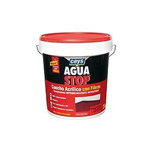 Ceys M288908 – Impermeabilizante aquastop caucho acrilico con fibras gris 20 kg