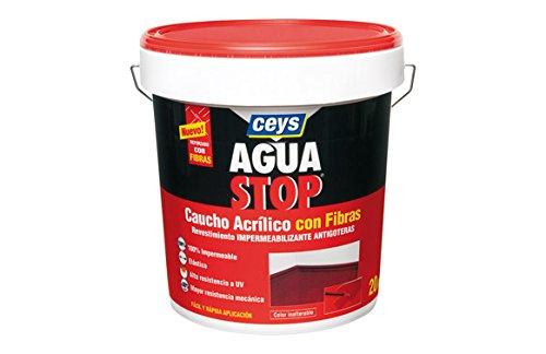 Ceys M288908 - Impermeabilizante aquastop caucho acrilico con fibras gris 20 kg