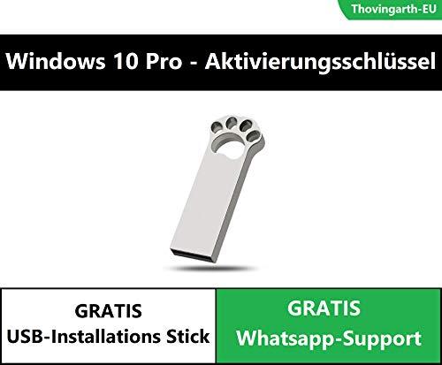 Windows 10 Professional Aktivierungsschlüssel (Vollversion) - mit GRATIS USB-Stick - 32/64 Bit - Deutsch