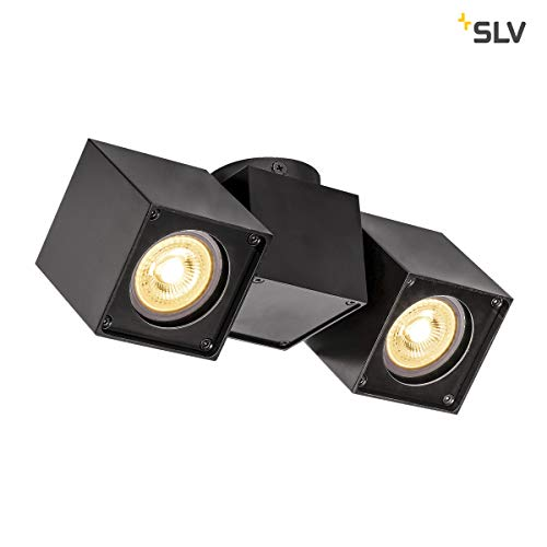 SLV LED Strahler ALTRA DICE dreh- und schwenkbar , Dimmbare Wand- und Deckenleuchte zur Beleuchtung innen , LED Spot, Deckenfluter, Deckenstrahler, Decken-Lampen, Wand-Lampe , 2-flammig, GU10, E-A++