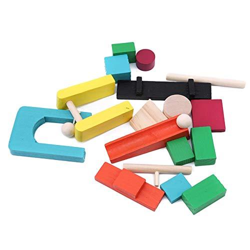 Huaicheng Kids Domino Stacking Toy Juego de mesa Juego de mesa de bebé juguete educativo para niños pequeños, 1-10