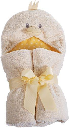 Bieco 38140135 - Baby Kapuzenkuscheltuch Ente, beige und gelb, ca. 100 x 75 cm