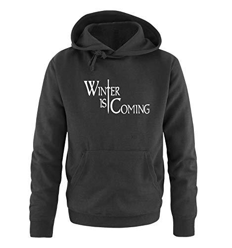 Just Style It - Winter is Coming - Style1 - Game of Thrones - Herren Hoodie - Schwarz/Weiss Gr. 4XL