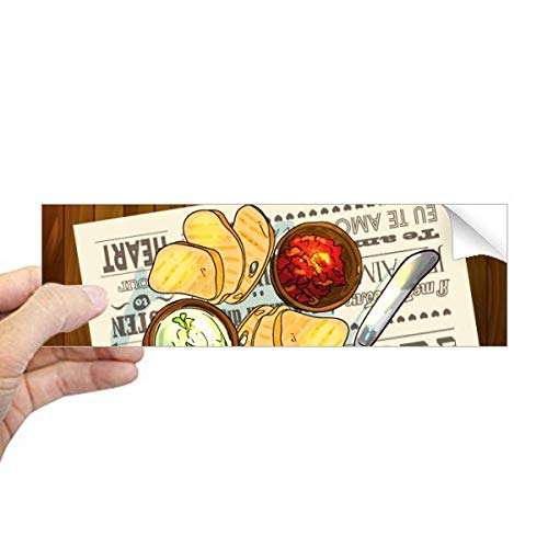 DIYthinker Voorgerecht Slice van Brood Wijn Rechthoek Bumper Sticker Notebook Window Decal