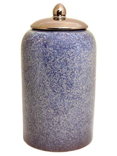 Werner Voss Deckelvase Mystical Keramik-Vase Dekovase Blau Lila Bronze im Retro-Design Moderne Deko für Wohnzimmer, Esszimmer und Co 30,5 cm