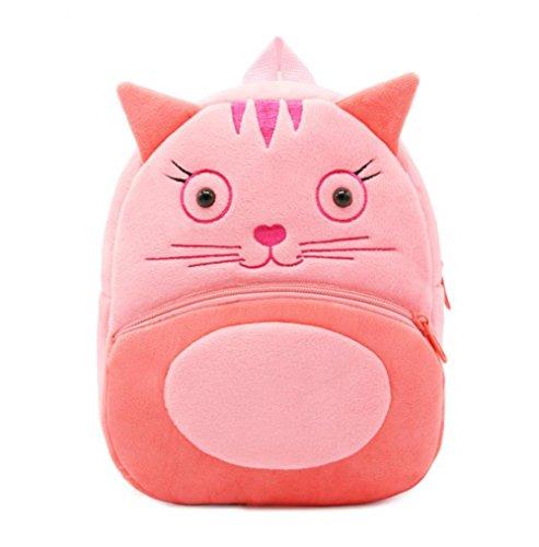 Cute Toddler Backpack Toddler Bag Plush Animal Cartoon Mini...