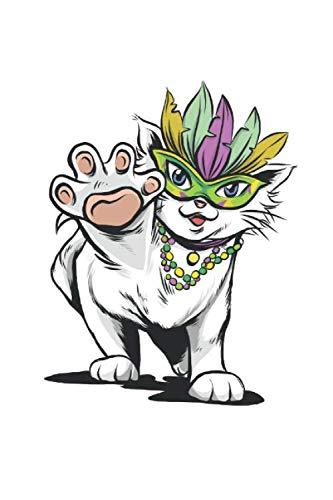 Cat Mardi Gras: Punkraster Notizbuch - 120 Seiten - Geschenk-Idee - Katzenmotiv - Geburtstagsgeschenk - lustiges Katzen Journal