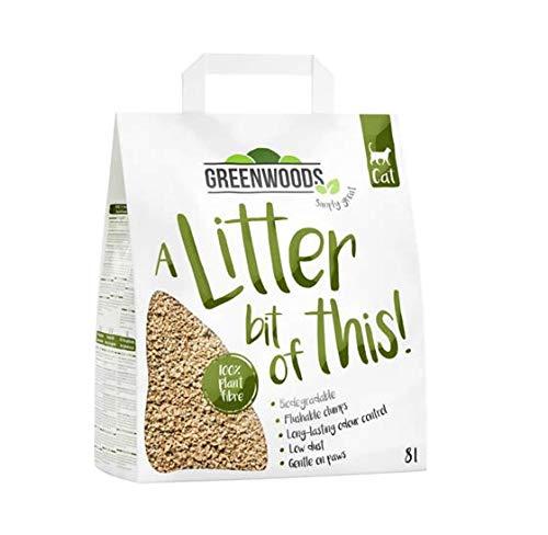 Greenwoods Plant Fibre Natural Clumping Cat Litter 3X8L Tidy Fresh Step...