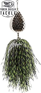 Tooth Shield Tackle Musky Bucktail (Chartreuse Black) Muskie Pike Double 10 Inline Spinner Musky Lures Baits Tackle
