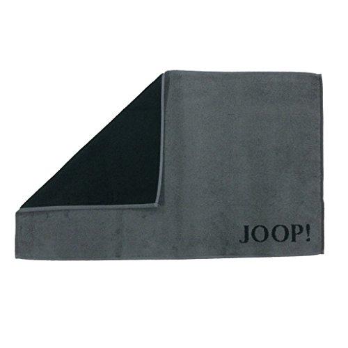 JOOP! Classic Doubleface badmat badmat 50/80cm, kleur zwart/antraciet