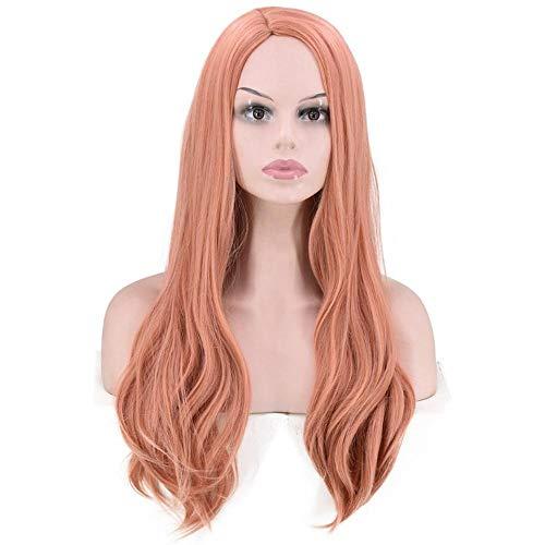 Peluca de seora cosplay de pelo largo y rizado y ola grande