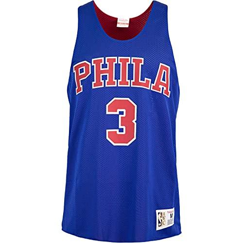 Mitchell & Ness Allen Iverson Philadelphia 76ers Maillot débardeur réversible, Bleu roi, XL