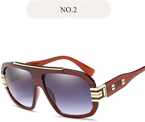 NIUASH Gafas de Sol polarizadas Gafas de Sol Vintage para Hombre Gafas de Sol con Montura Grande Gafas de Sol Retro de Seguridad para Conducir Gafas de Conductor UV400-2