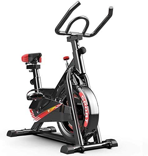 KDKDA Bicicleta estática, Bicicletas Ciclismo Indoor Bicicleta estacionaria, Spin Bike for el hogar en Bicicleta Cardio, Entrenamiento de la Bici (Color : Black)