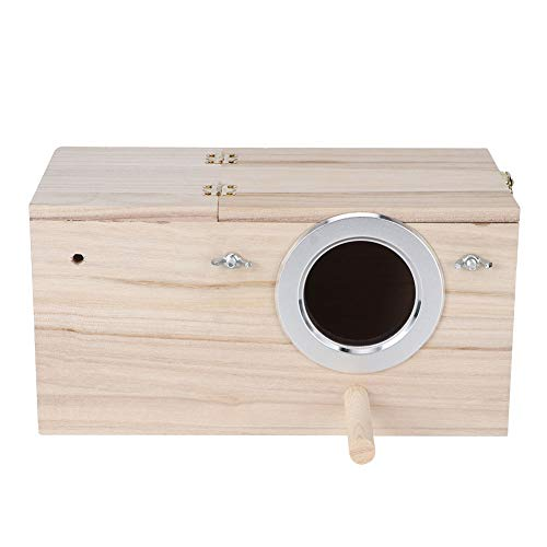 Lecxin Birds House, Wooden Durable Birds Nistkasten Nymphensittiche Bird Breeding Box House Dekoration für Wellensittiche, Psittacula Agapornis, Nymphensittiche Papageien und andere Vögel