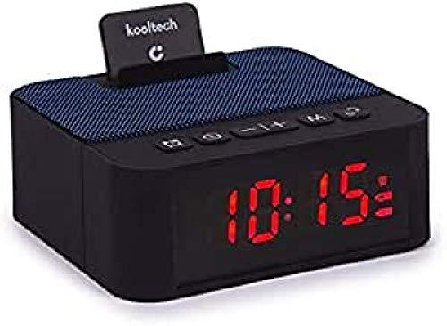 Kooltech 018826 Altavoz Radio, Despertador, Bluetooth, Azul (SP442)