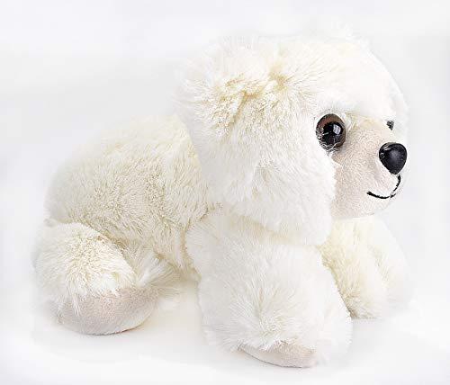 Wild Republic Hug'ems Plush, Polar Bear Baby Cuddly Soft Toy, 18 cm Peluche de Oso bebé, Color (16246)