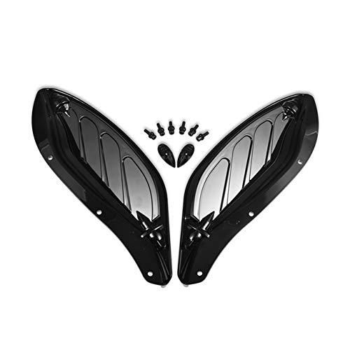 RUI - K25 Parabrisas Motocicleta Moto Universal Ajustable del Parabrisas Lateral del ala Carenado Deflector De Aire En Forma Fit For Harley Glide 96-13 Parabrisas Moto (Color : Black)