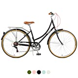 Retrospec Beaumont-7 Seven Speed Lady's Urban City Commuter Bike Eggshell 38cm/Small