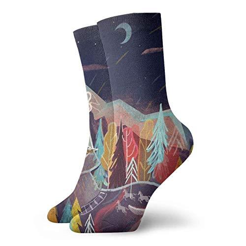 Calcetines de dormir clásicos de confort atlético casual calcetines 30 cm/11.8 pulgadas para unisex wen y mujeres