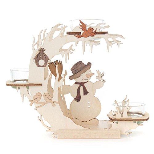 Holz-Teelichtständer Perfekt zum Frühling oder für Ostern