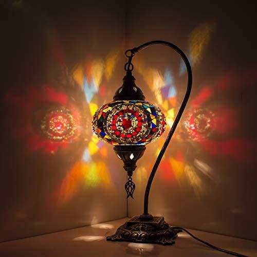 Lámpara turca Mosaico Lámparas de mesa Lámpara de Turquía multicolor Pantalla nocturna Lámparas Araña