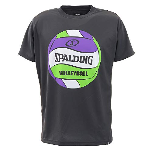 バレーボール Tシャツ ボールプリント SMT200740 ブラック XLサイズ バレー