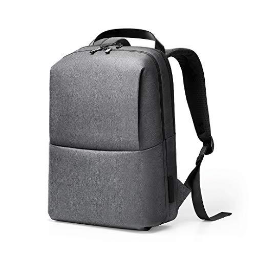 Borse per Notebook e Accessori Grande capacità Impermeabile Backpackage Laptop Bag for 15,6 Pollici e sotto (Nero) (Colore : Grey)
