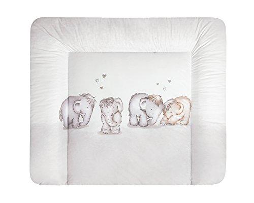 Julius Zöllner Matelas à langer Softy mammuts in Love 2813–0 (T) Profondeur x (B) Largeur 75 x 85 cm