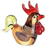 Miniature Glass Rooster Figurine