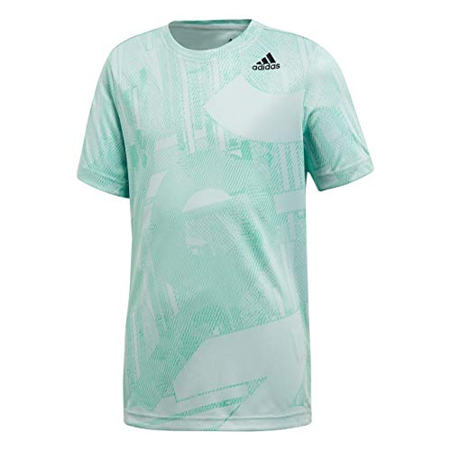 adidas Kinder Training T-Shirt, Ashgrn/Hiregr, 152