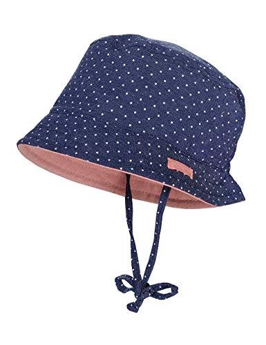 maximo Baby-Mädchen Hut Sonnenhut, Blau (Jeans-Weiß-Punkte 28), (Herstellergröße: 45)