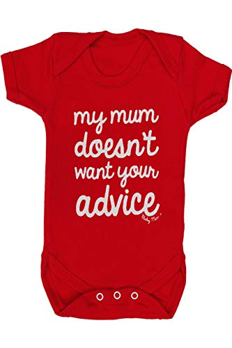 Divertido bebé crece para niños o niñas | Chaleco / Body | My Mum Do't Want Your Advice – Ideal para baby shower, gemelos, nuevos padres, regalo de primer cumpleaños | Baby Moo'S UK (0-3 meses)